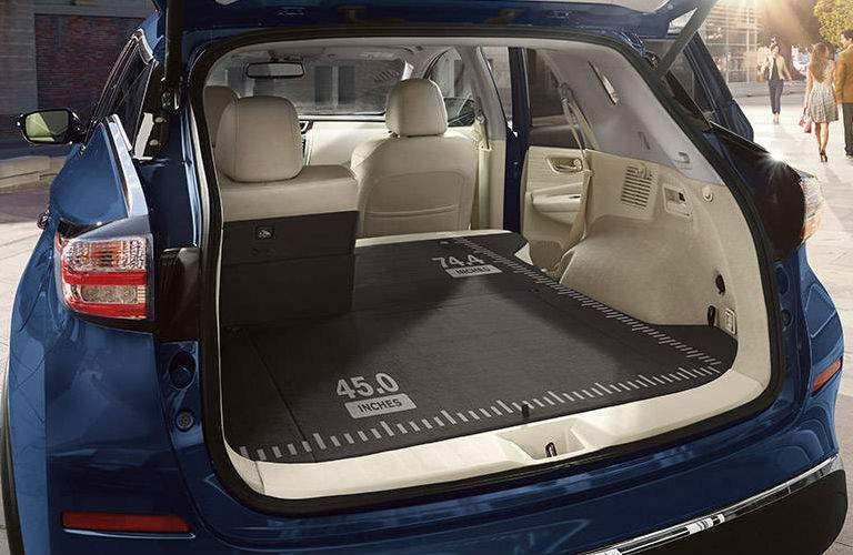 2018 Nissan Murano cargo space with measurements