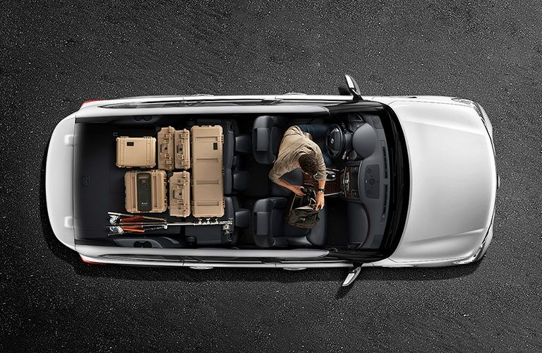 Overhead view of a 2018 Nissan Armada