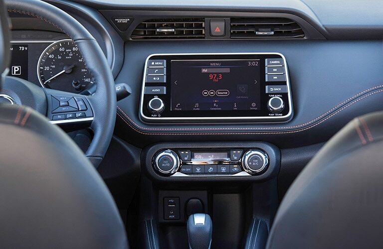 Infotainment system in the 2018 Nissan Kicks