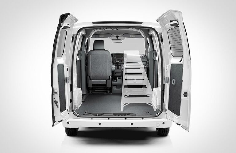 Diagram of a ladder fitting in the 2018 Nissan NV200 Compact Cargo