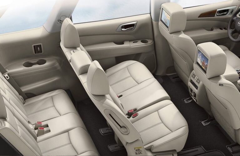Interior seating in the 2018 Nissan Pathfinder
