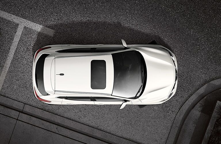 Overhead view of a 2018 Nissan Rogue Sport