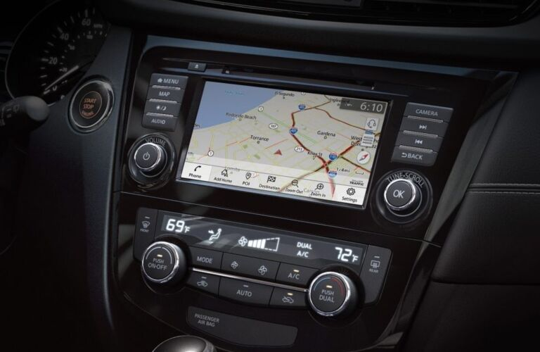 Infotainment system in the 2018 Nissan Rogue