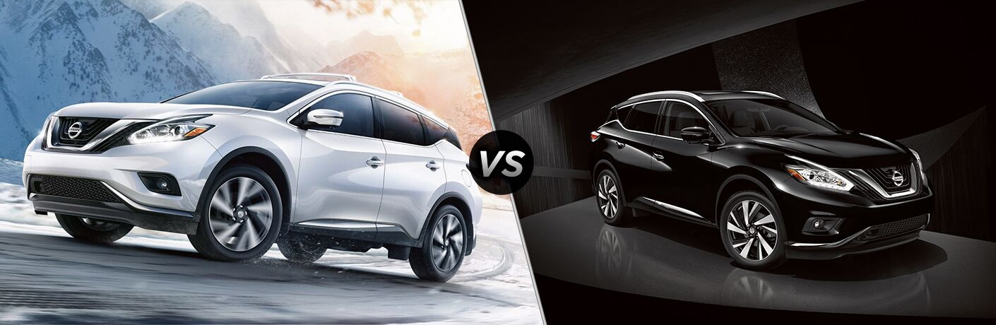 2019 Nissan Murano exterior front fascia and drivers side vs 2018 Nissan Murano front fascia and passenger side