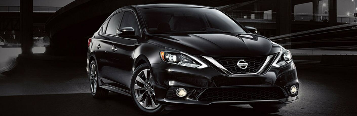 2019 Nissan Sentra on a dark street