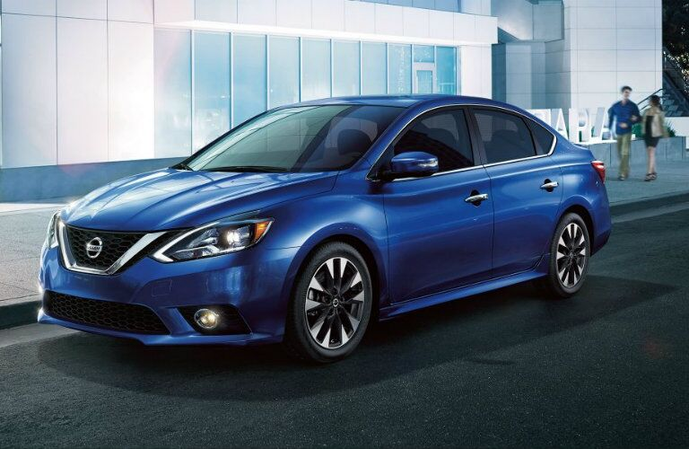 2019 Nissan Sentra parked by the curb