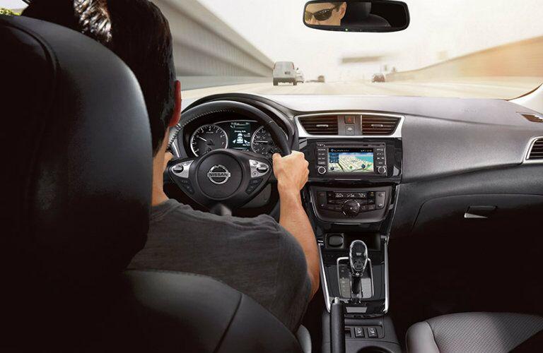Man driving a 2019 Nissan Sentra