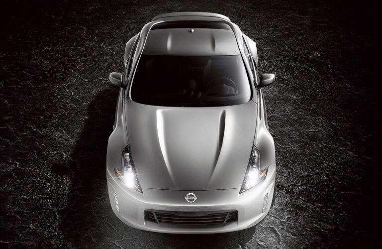 Overhead view of a silver 2019 Nissan 370Z Coupe