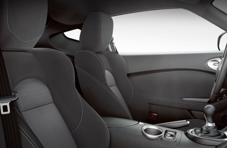 Interior front seats in the 2019 Nissan 370Z Coupe