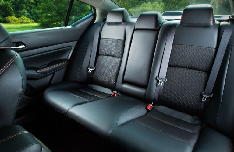 Rear seats in the 2019 Nissan Altima