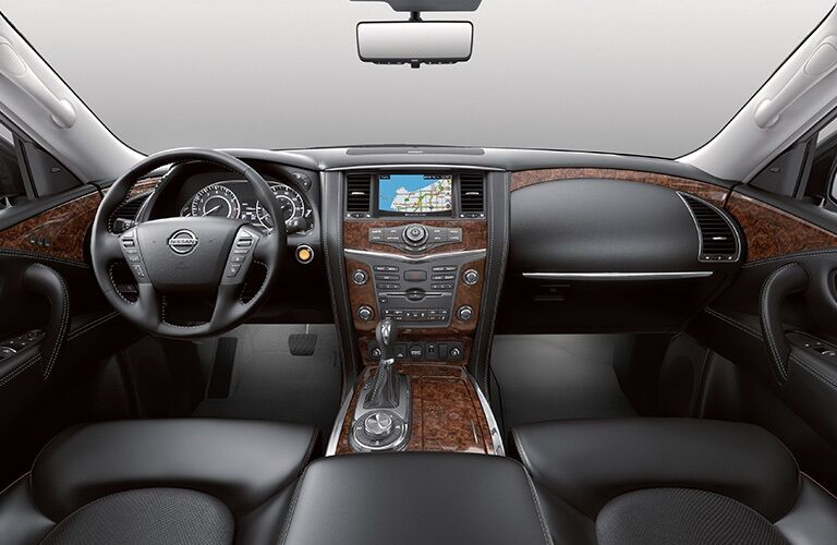 Cockpit view in the 2019 Nissan Armada