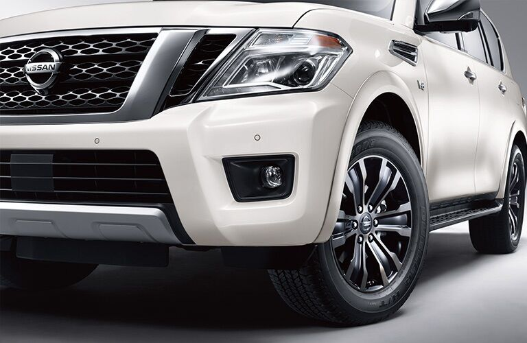 Front view of a white 2019 Nissan Armada