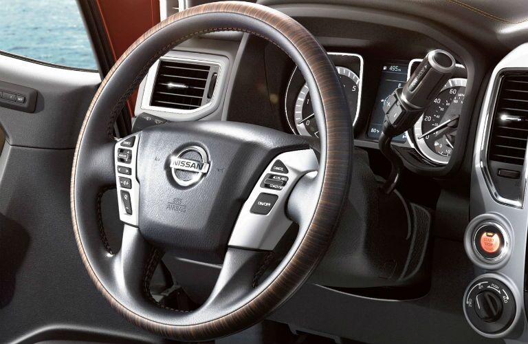 Steering wheel of the 2019 Nissan TITAN XD