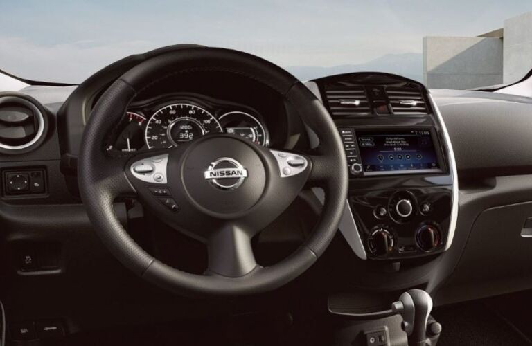 Steering wheel in the 2019 Nissan Versa Note