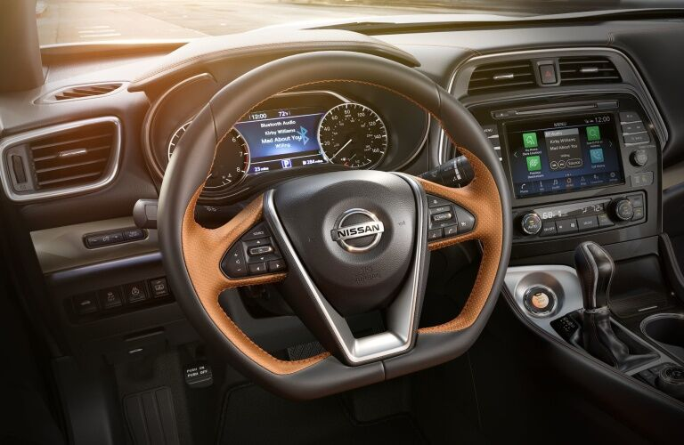 Steering wheel of the 2019 Nissan Maxima
