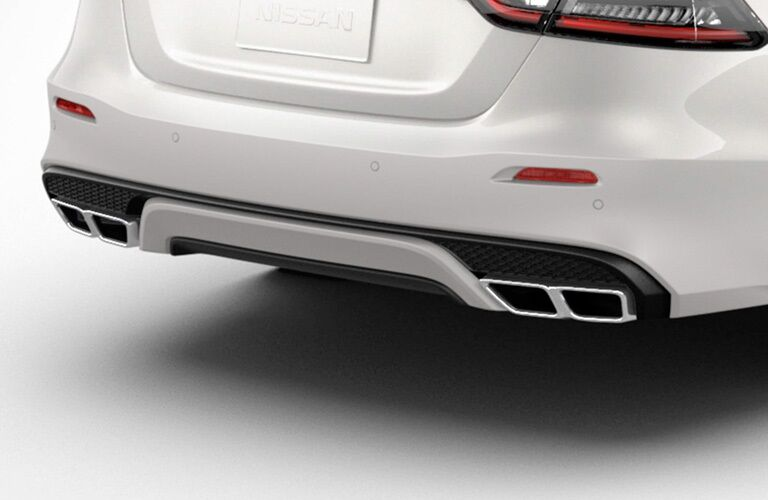 Rear exhaust of the 2019 Nissan Maxima