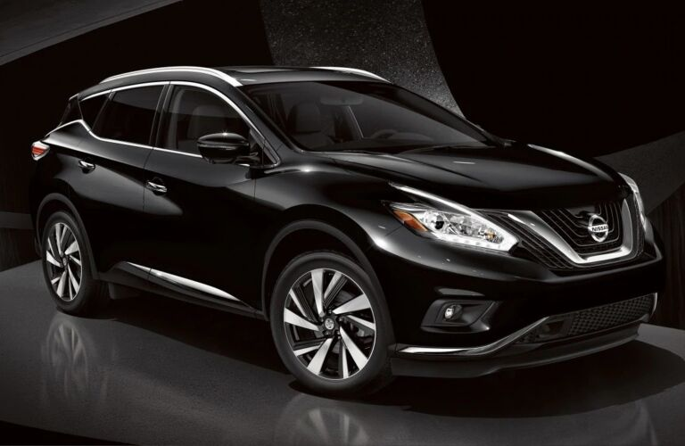 Black 2019 Nissan Murano on a black background