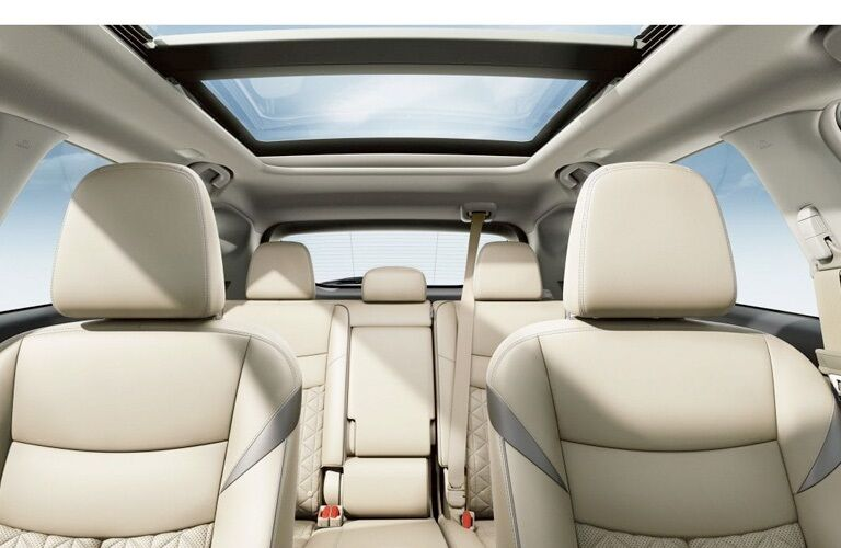 Interior seating in the 2019 Nissan Murano