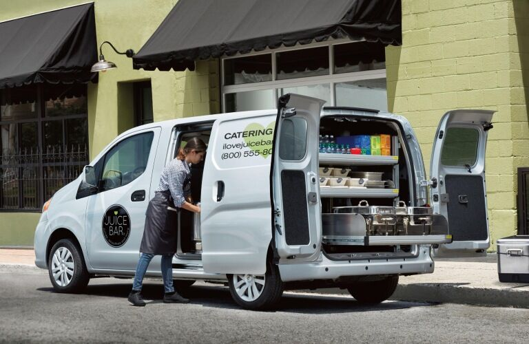 Catering company using the 2019 Nissan NV200
