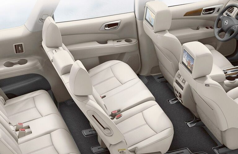 Overhead view of a 2019 Nissan Pathfinder interior