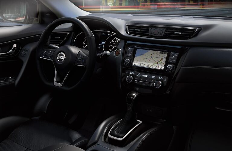 Front seat interior in the 2019 Nissan Rogue