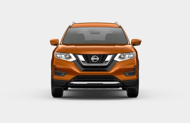 Front view of an orange 2019 Nissan Rogue SV