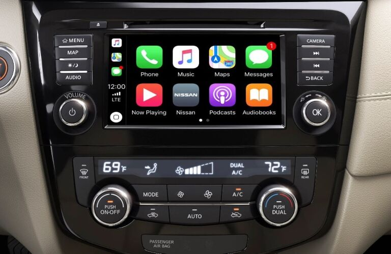 Infotainment system in the 2019 Nissan Rogue