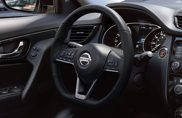 Steering wheel in the 2019 Nissan Rogue