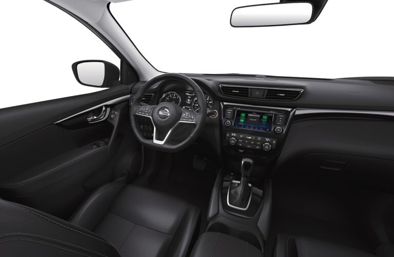 Black interior of the 2019 Nissan Rogue Sport