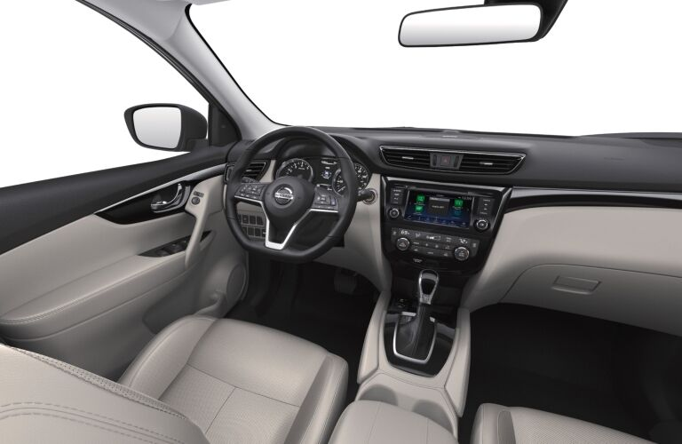 Grey interior of the 2019 Nissan Rogue Sport