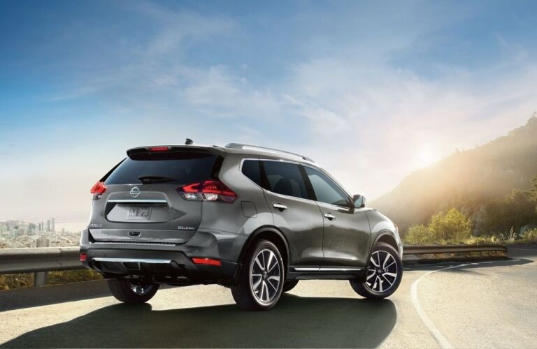 2019 Nissan Rogue parked on windy road