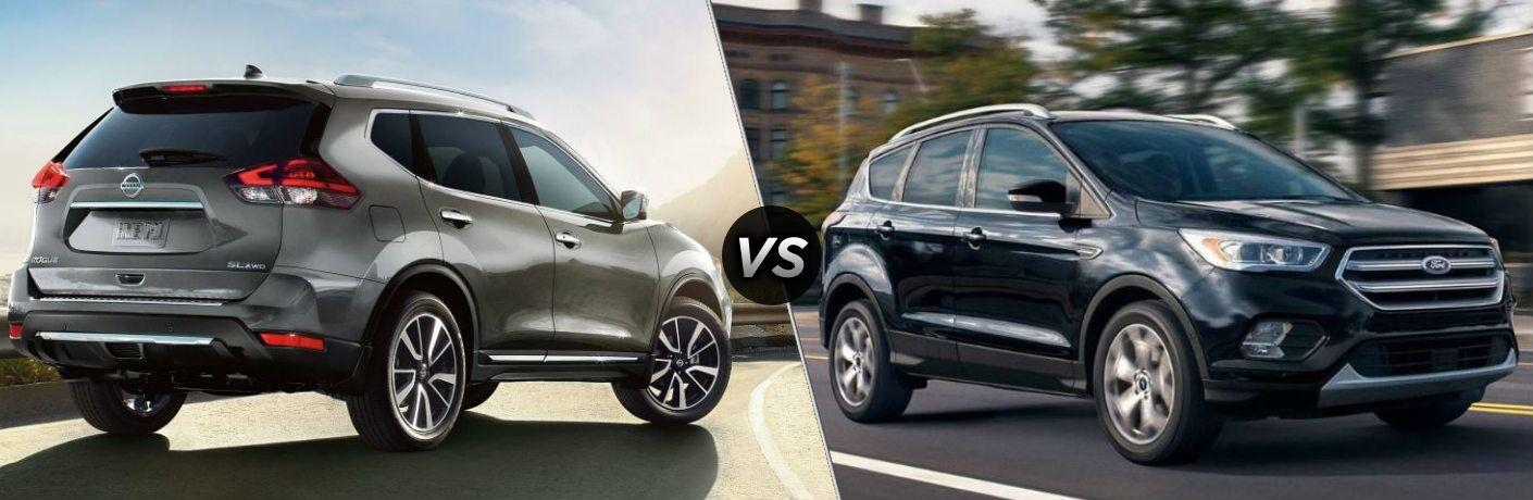 2019 Nissan Rogue and 2019 Ford Escape side by side