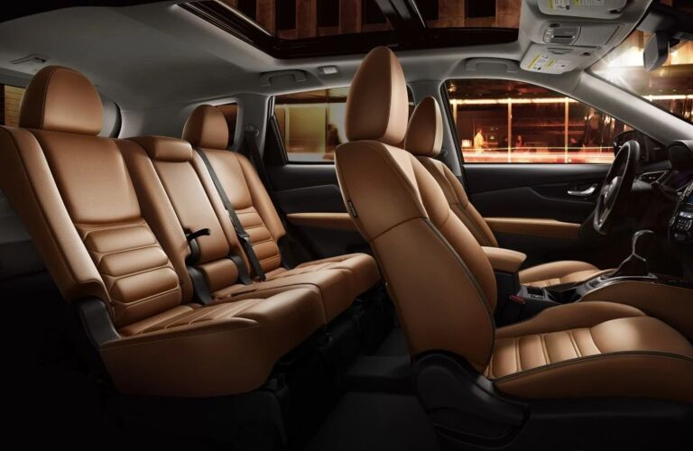 Interior seating of the 2019 Nissan Rogue