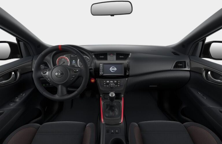 Cockpit view in the 2019 Nissan Sentra NISMO