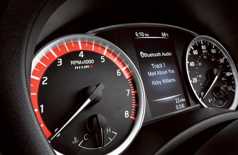 Instrument cluster in the 2019 Nissan Sentra