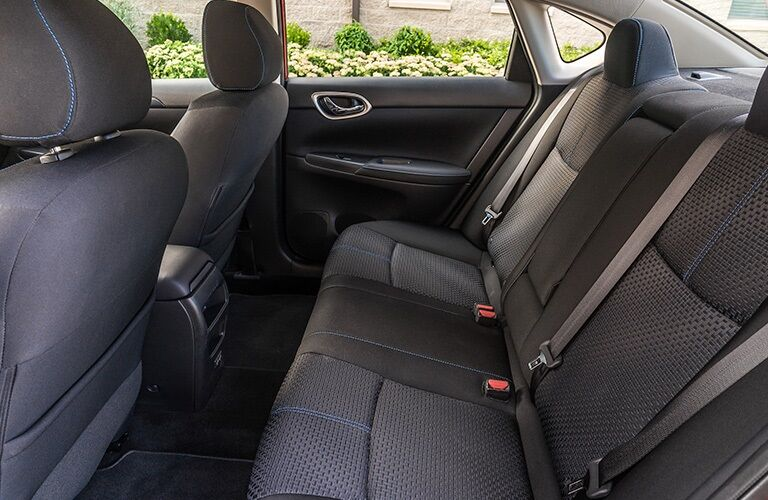 Rear seats in the 2019 Nissan Sentra