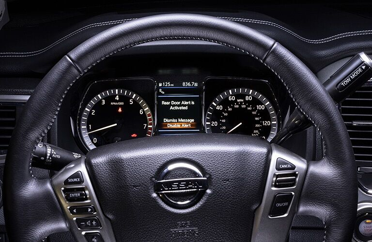 Instrument cluster in the 2019 Nissan TITAN