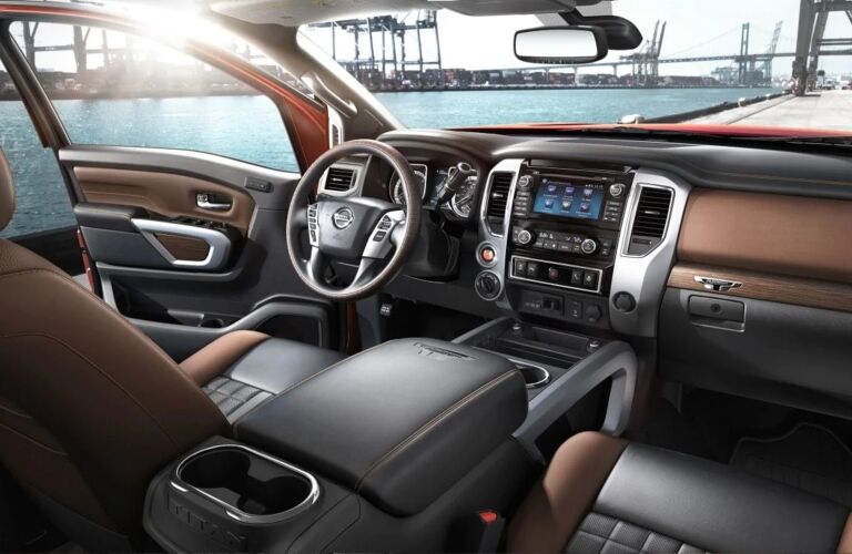 Front interior of the 2019 Nissan TITAN XD