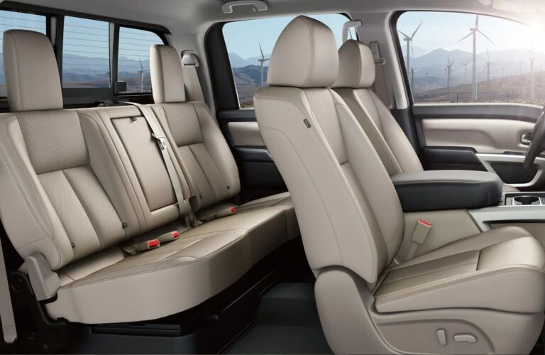 Two row seating in the 2019 Nissan TITAN XD