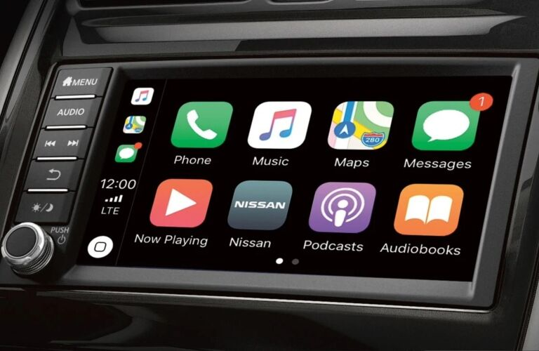 Infotainment system in the 2019 Nissan Versa Note