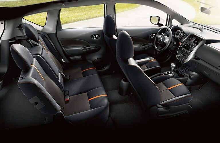 Interior seating in the 2019 Nissan Versa Note