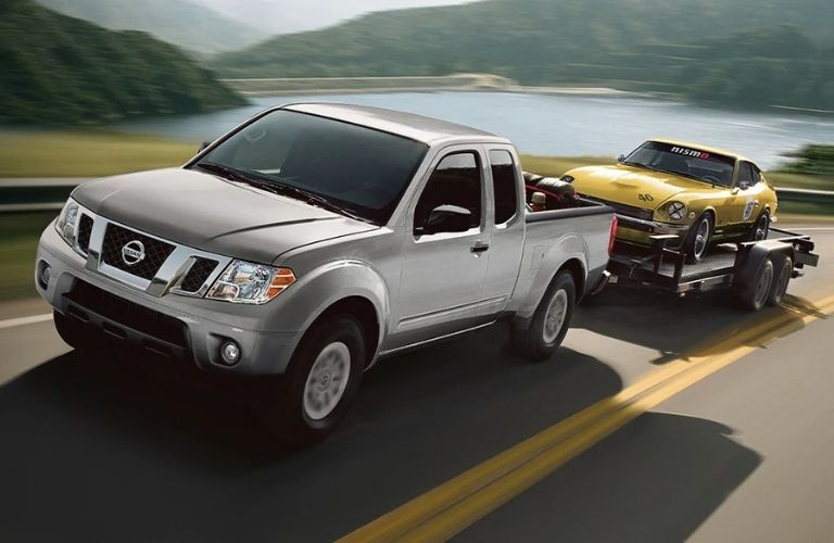 front view of a gray 2020 Nissan Frontier