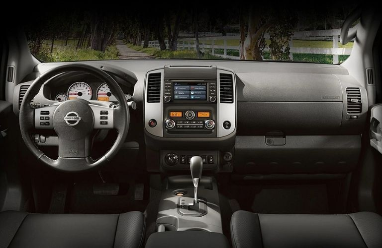 front interior of a 2020 Nissan Frontier