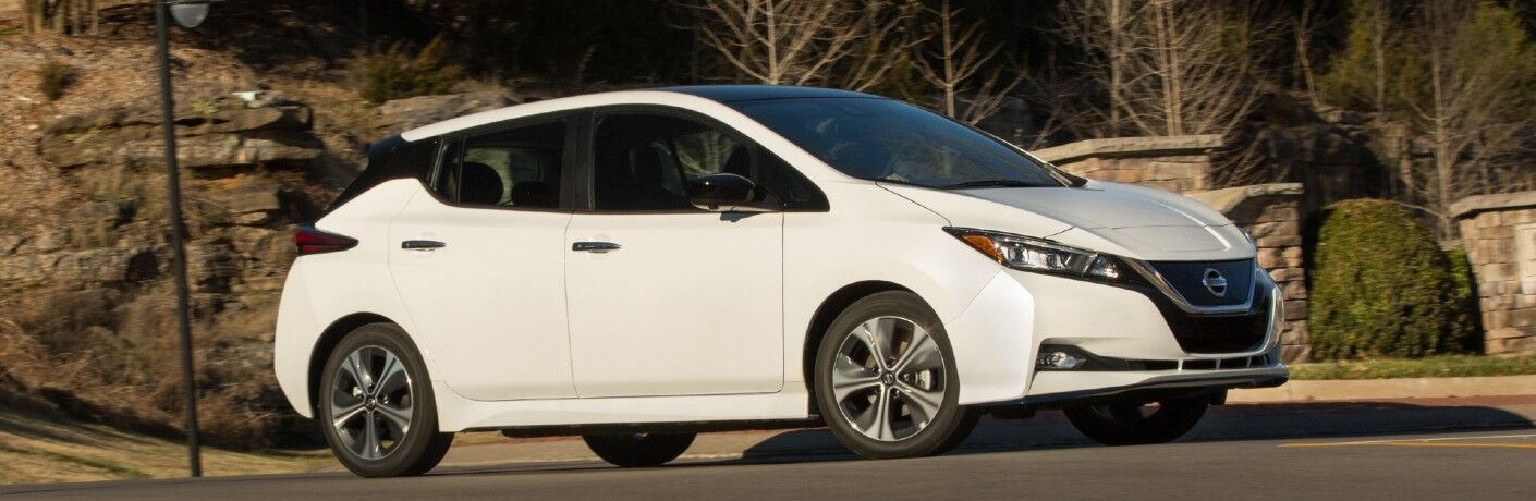 white 2020 Nissan Leaf
