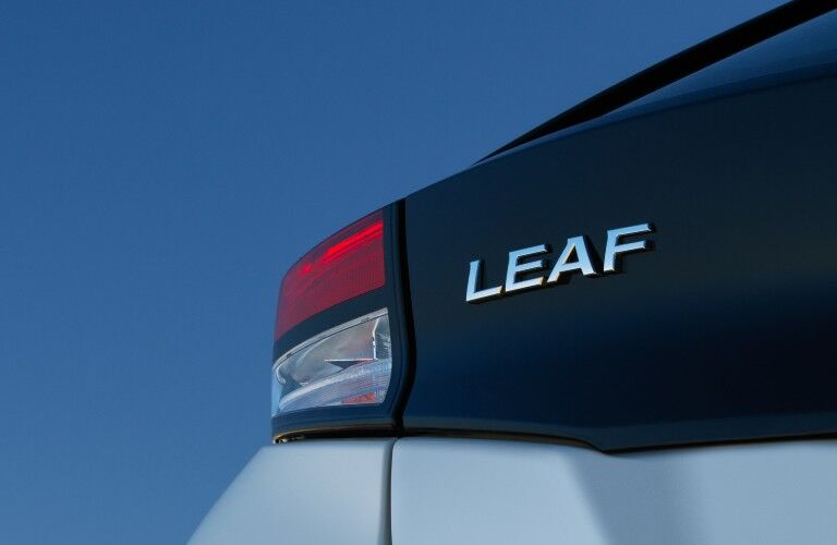 2020 Nissan Leaf badging