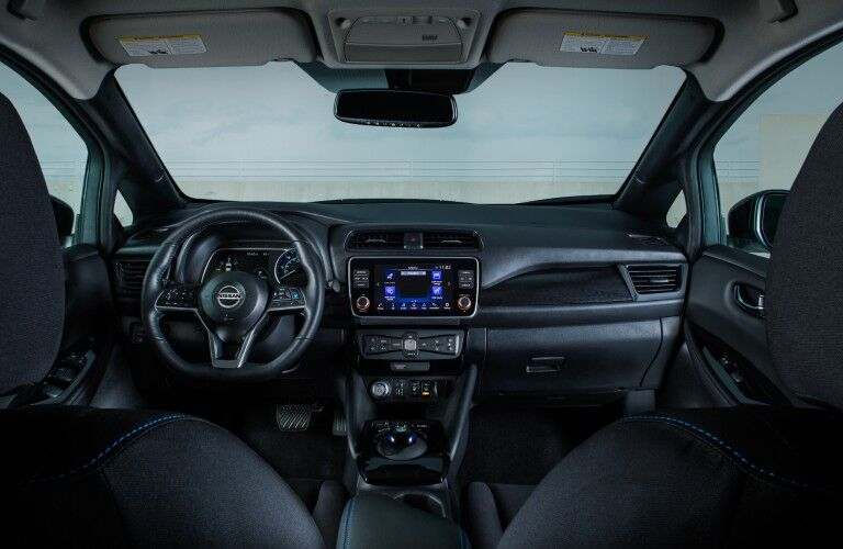 front interior view of the 2020 Nissan Leaf