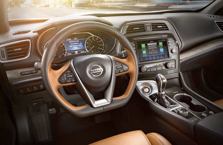 2020 Nissan Maxima dashboard and steering wheel