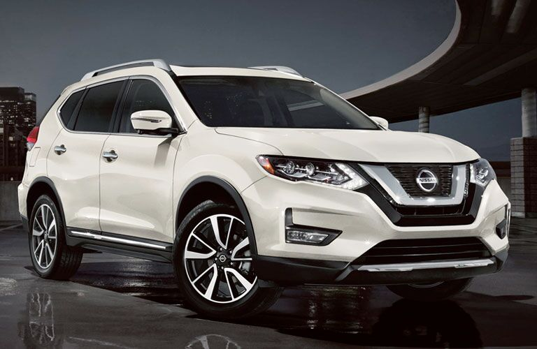 Front view of white 2020 Nissan Rogue