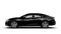 side view of black 2020 Nissan Maxima S
