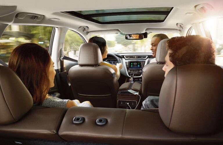 friends inside the 2020 Nissan Murano